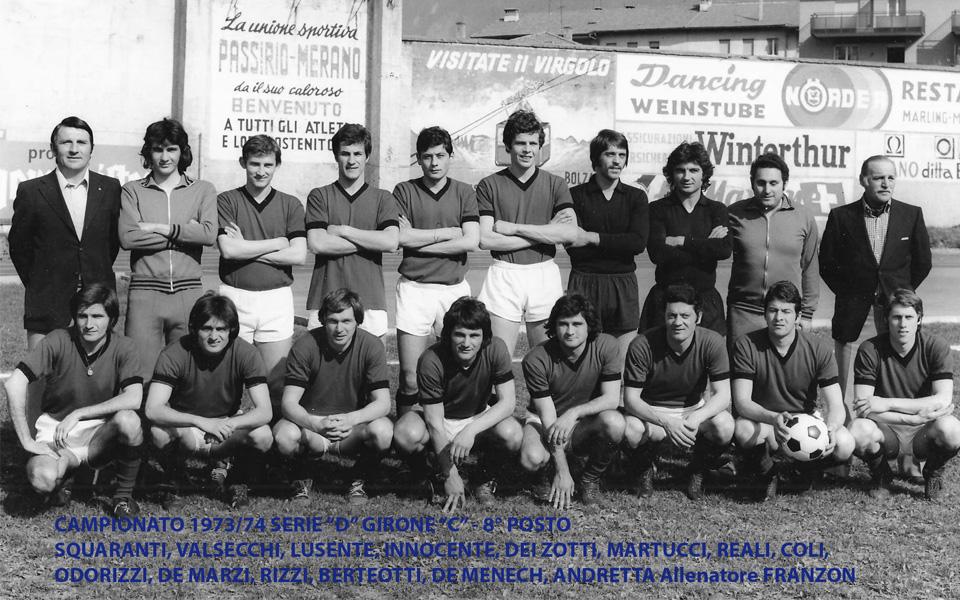 Passirio squadra 1973-1974