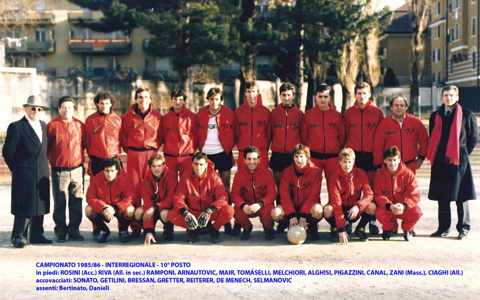 Passirio squadra 1985-1986