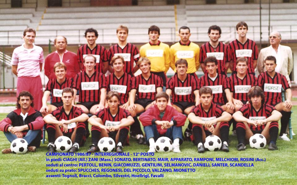 Passirio squadra 1986-1987
