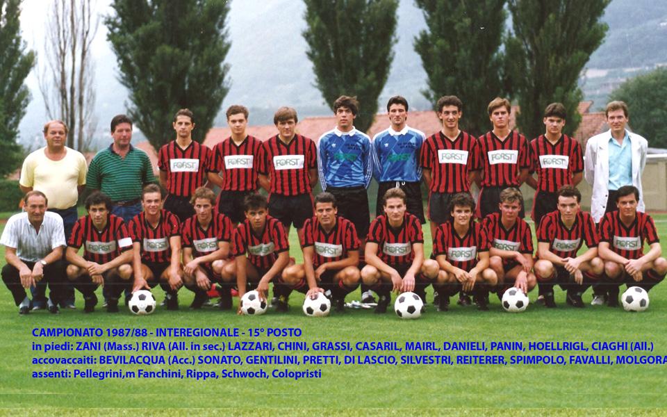 Passirio squadra 1987-1988