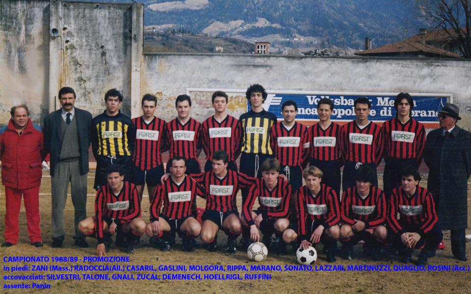 Passirio squadra 1988-1989