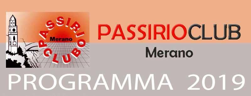 Programma 2019 del Passirio Club Merano